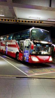 대만 타이페이의 관광 버스