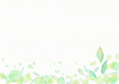 Watercolor 031 Fresh frame of leaves