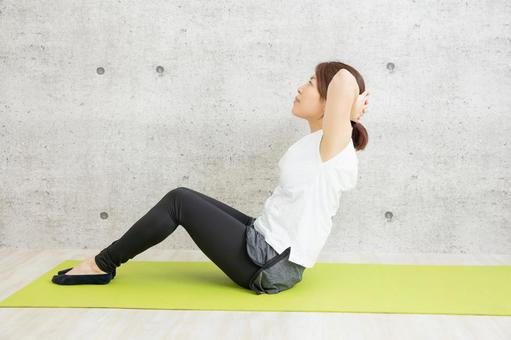 Stretching, women, woman