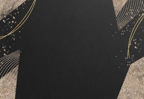 Background Texture Japanese Style Japanese Paper Frame Wave Circle Round Black Gold Gold Powder Luxe Design