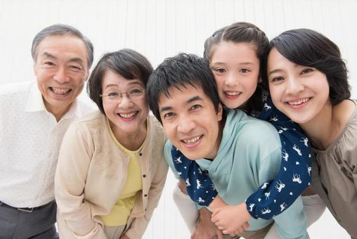 Caring close friend Three generations Family 5