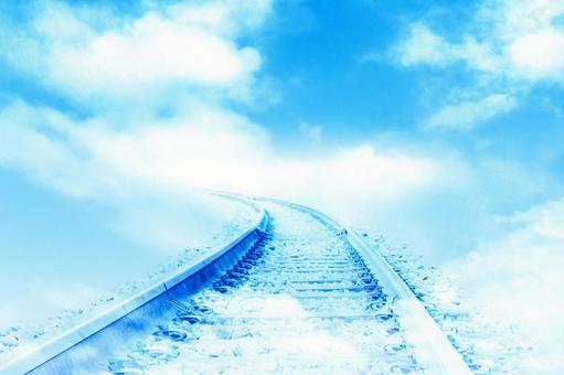 푸른 하늘에 따르는 선로
