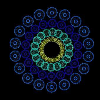 Geometric pattern circular
