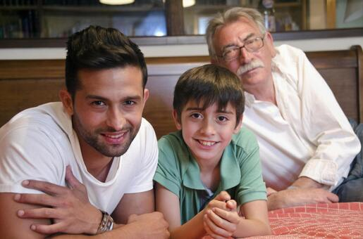 Foreigners Three generations of family