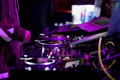 DJ booth turntable