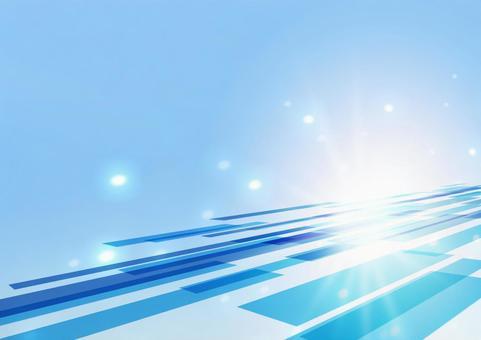 明亮的藍色網絡和光