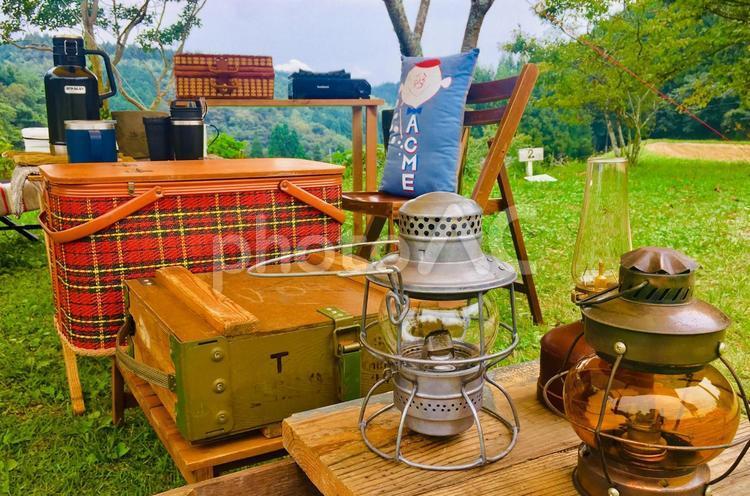 秋キャンプの写真