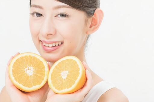 Women with oranges 2