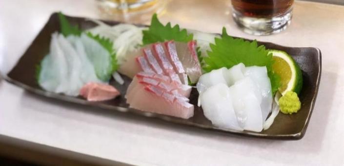 Assorted 3 kinds of sashimi