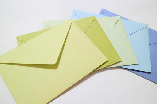 5 envelopes lined up from the top