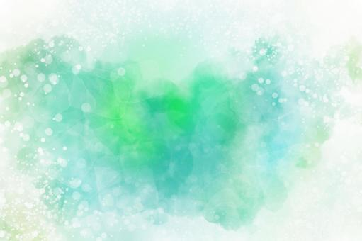 Ideal for a refreshing and glittering watercolor background texture frame in early summer ♪