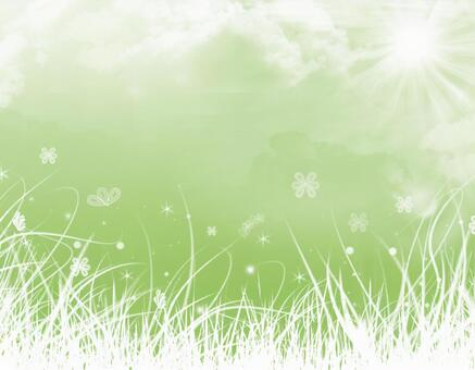Spring plant sun cloud
