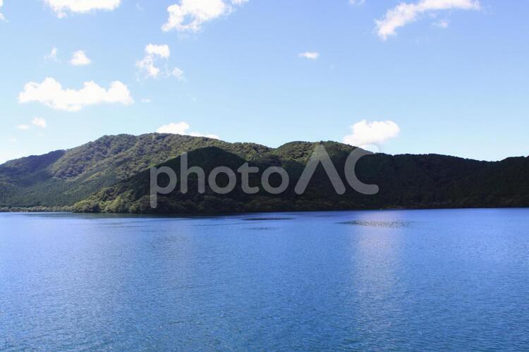 「スカイブルーの芦ノ湖」風景1(神奈川県・箱根)の写真