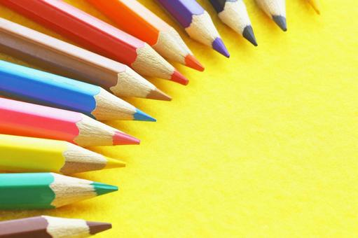 Colorful colored pencils drawing image material