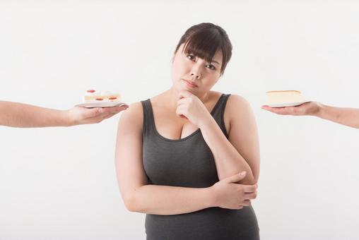 Female surrounded by cake 5