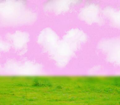 Heart cloud pink sky