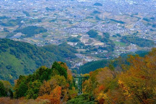Photographed the Nara Basin from the ropeway observatory on Mt. Yamato Katsuragi