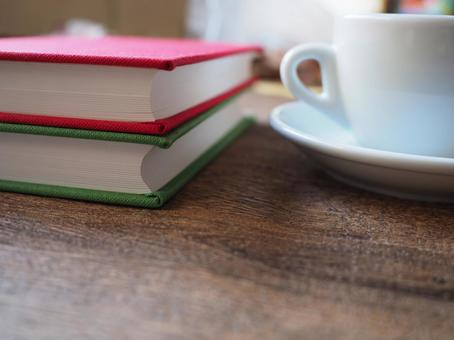 Image of coffee and book