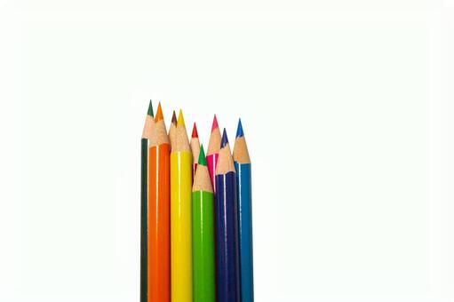 Bundled colored pencils layer design background transparent psd