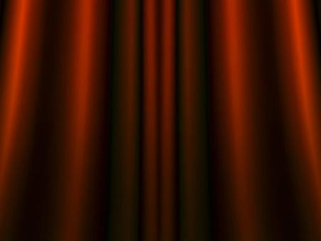 Gorgeous red curtain background material