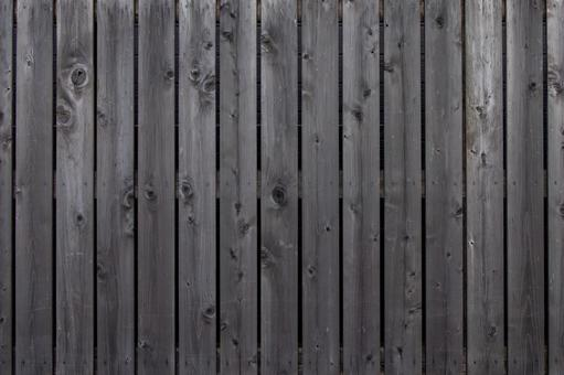Black-painted board wall