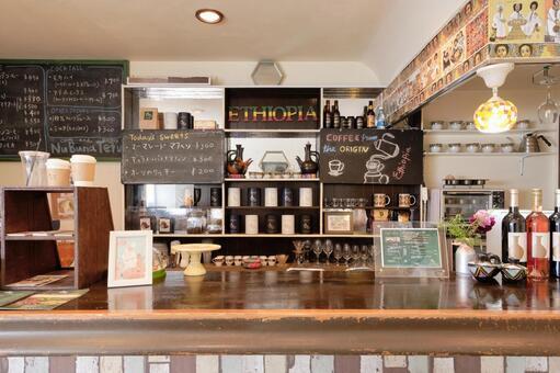 Ethiopian coffee coffee shop counter