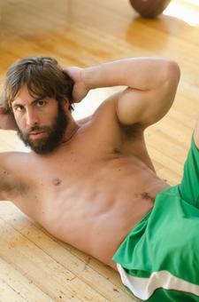 Caucasian male fitness model 72