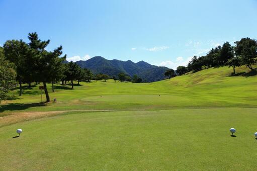 Golf course tee shot