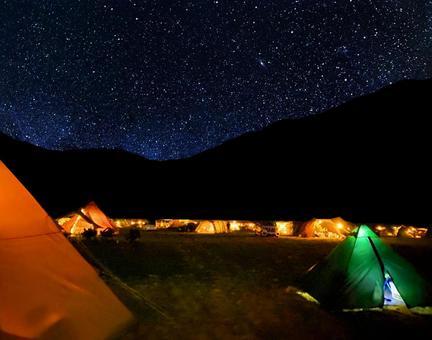 Night view camp
