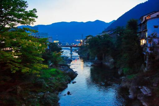 Yoshidagawa of Hachiman-cho, Gujo City, Gifu Prefecture