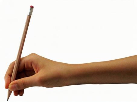 铅笔和手02