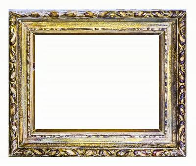 Antique picture frame_PSD material_gold