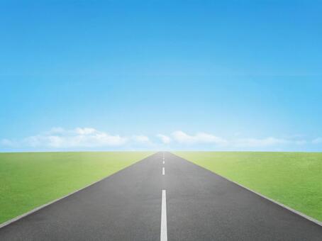 道路 地平線