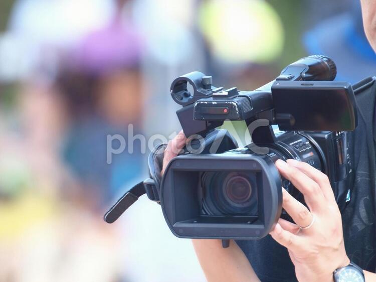 業務用ビデオ撮影の写真