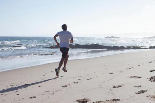 Foreign men running on the beach 20