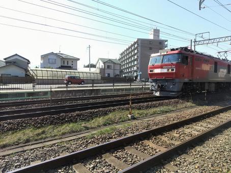EH500電気機関車 東北本線 貨物列車