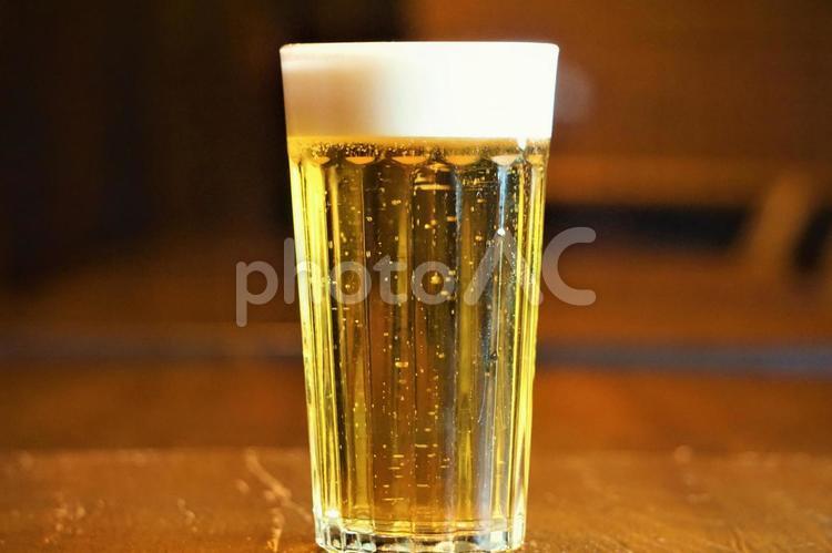 泡まで旨いビールの写真