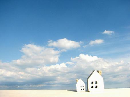 House 1 under the blue sky