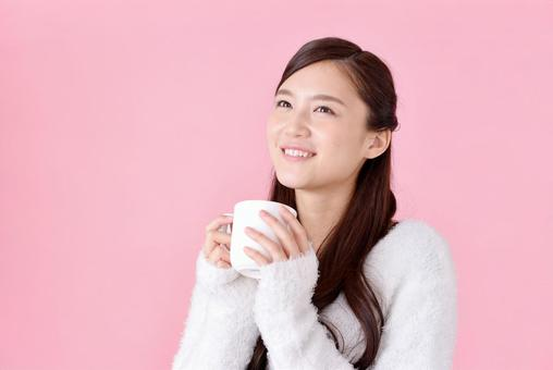 Woman with cup 2