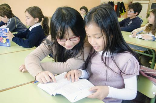 Children studying in the classroom 18