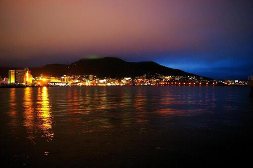 Night view of Hakodate Port