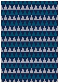 Scandinavian design blue triangle