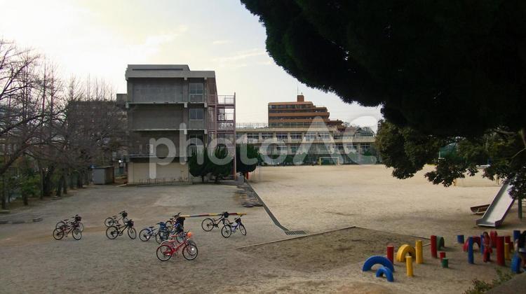 休日の校庭の写真