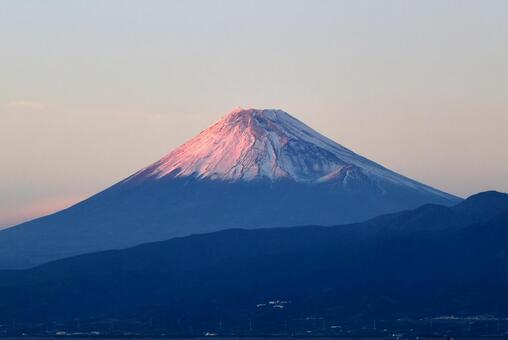 Mt. Fuji in the evening sun