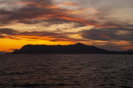 Mount Hakodate at sunset
