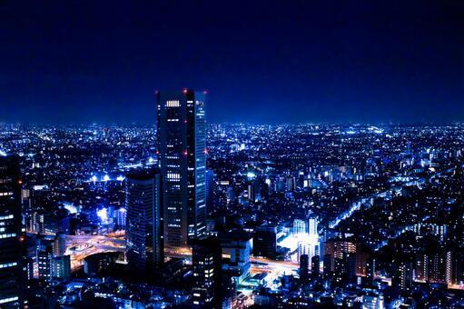 도쿄 야경 빛의 절경 2 블루