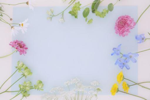 Pastel colored frame