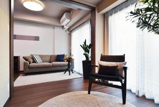 Chic living room and continuous living room