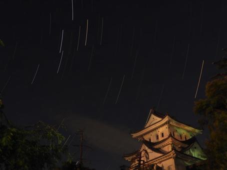 Ogaki Castle at midnight