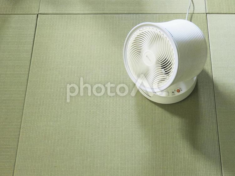 サーキュレーターと畳の写真